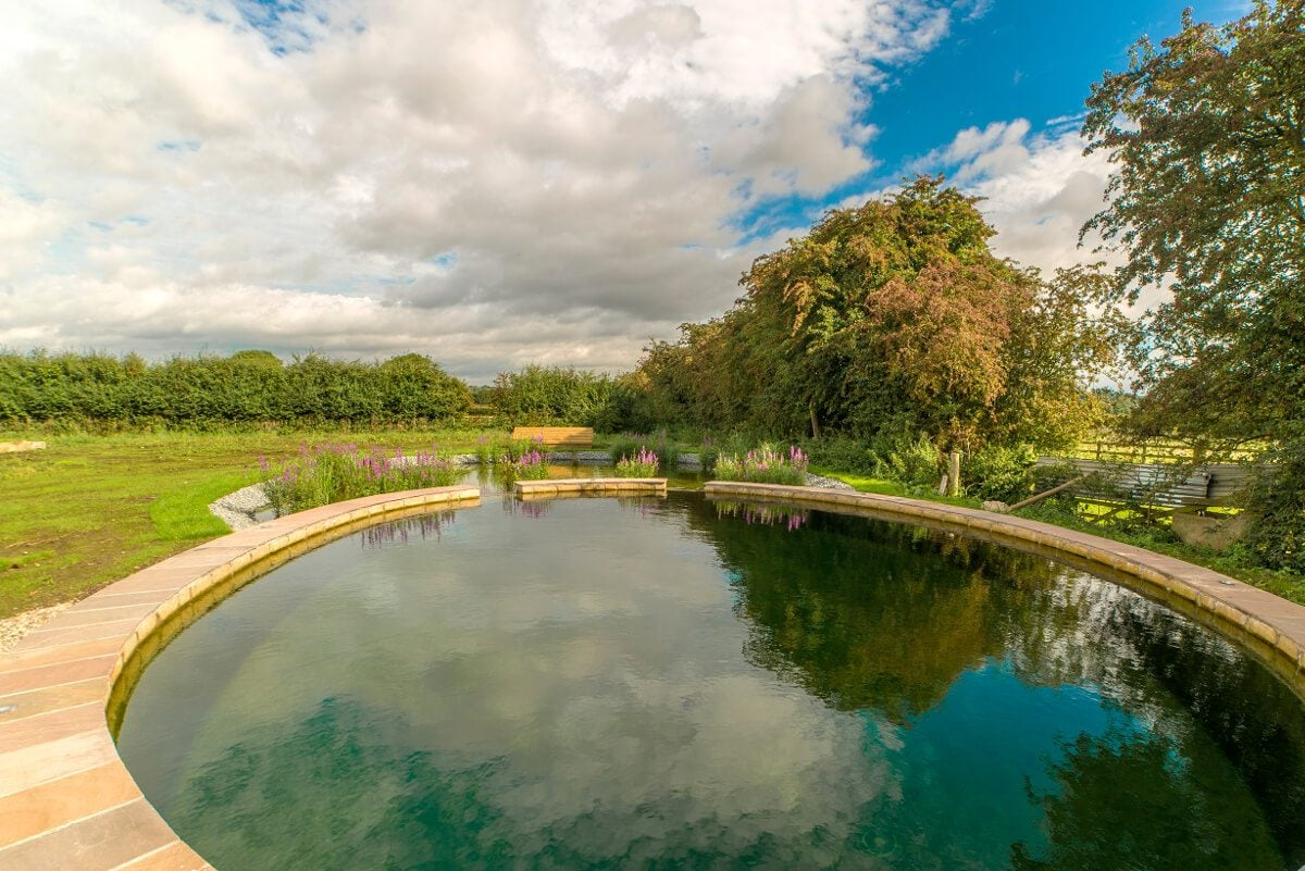 York inspired natural pools for Pond swimming pool